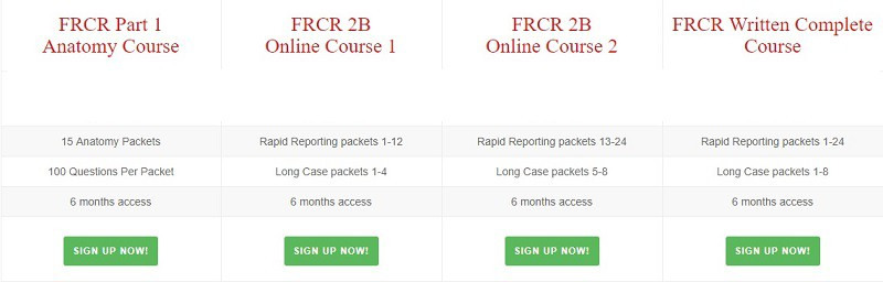 Revise Radiology Courses FRCR charges