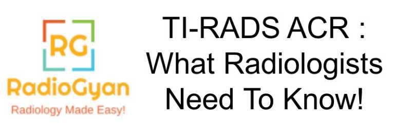 TIRADS ACR Radiology